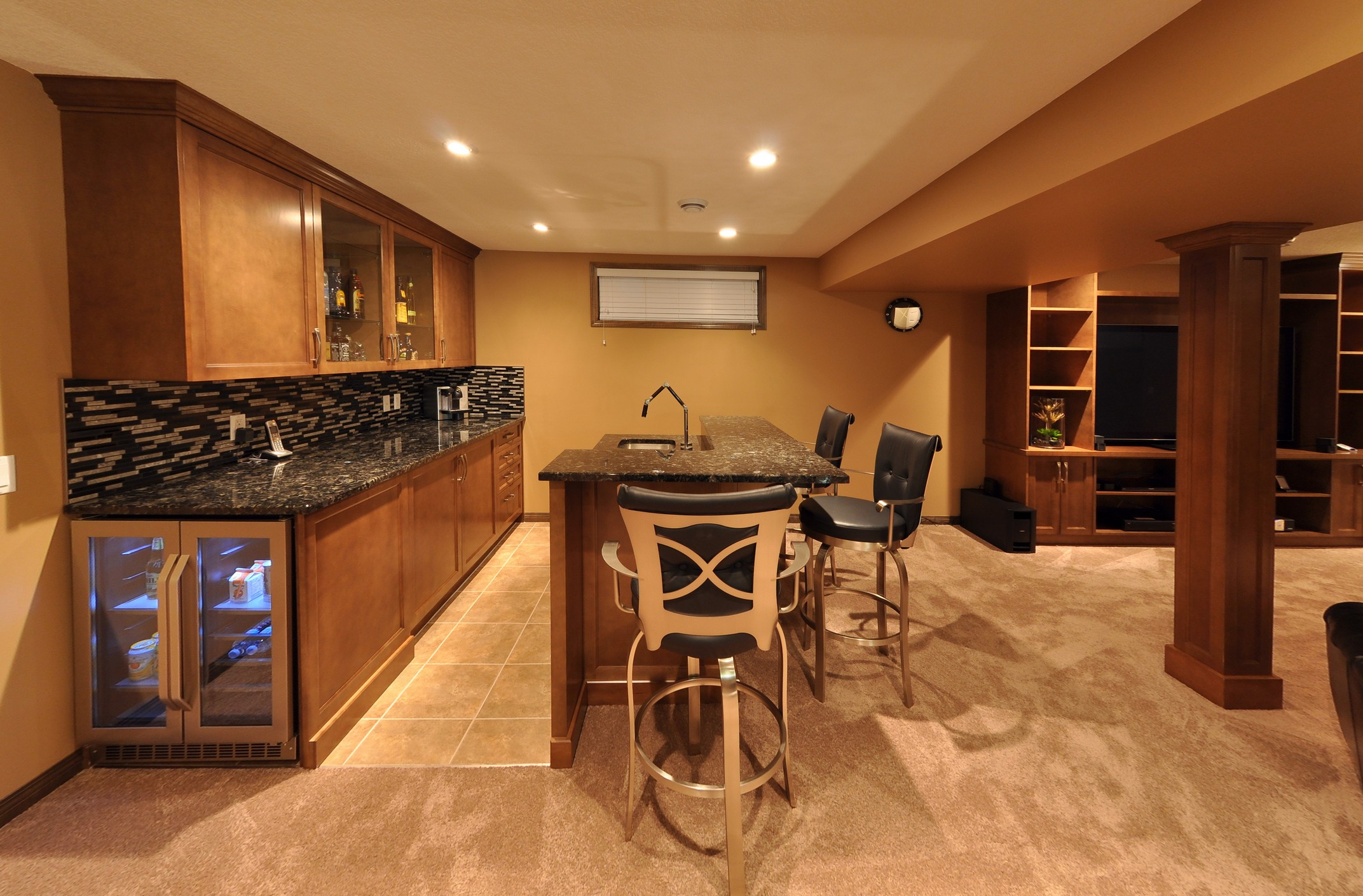 After - basement bar