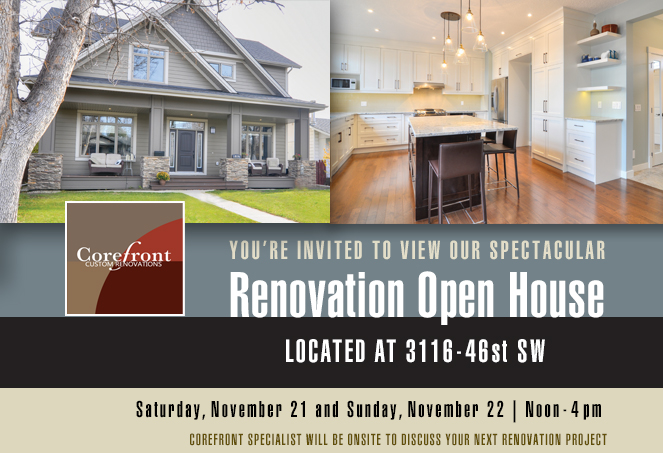 Renovation Open House:  This Weekend Saturday Feb 6 & Sunday Feb 7