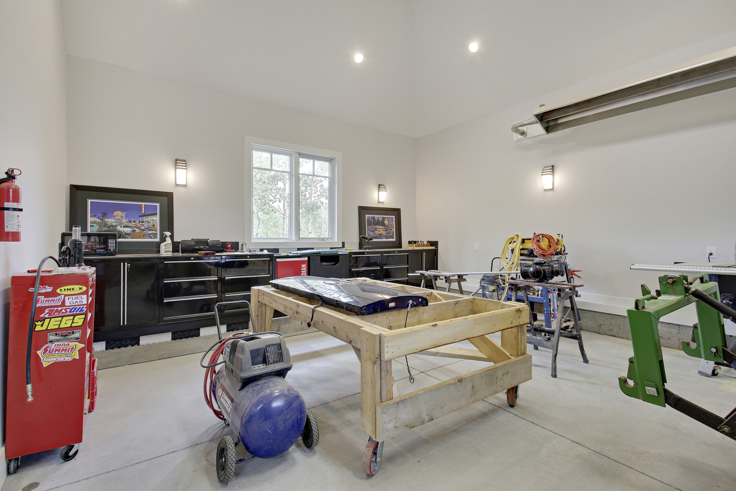 After - Interior garage