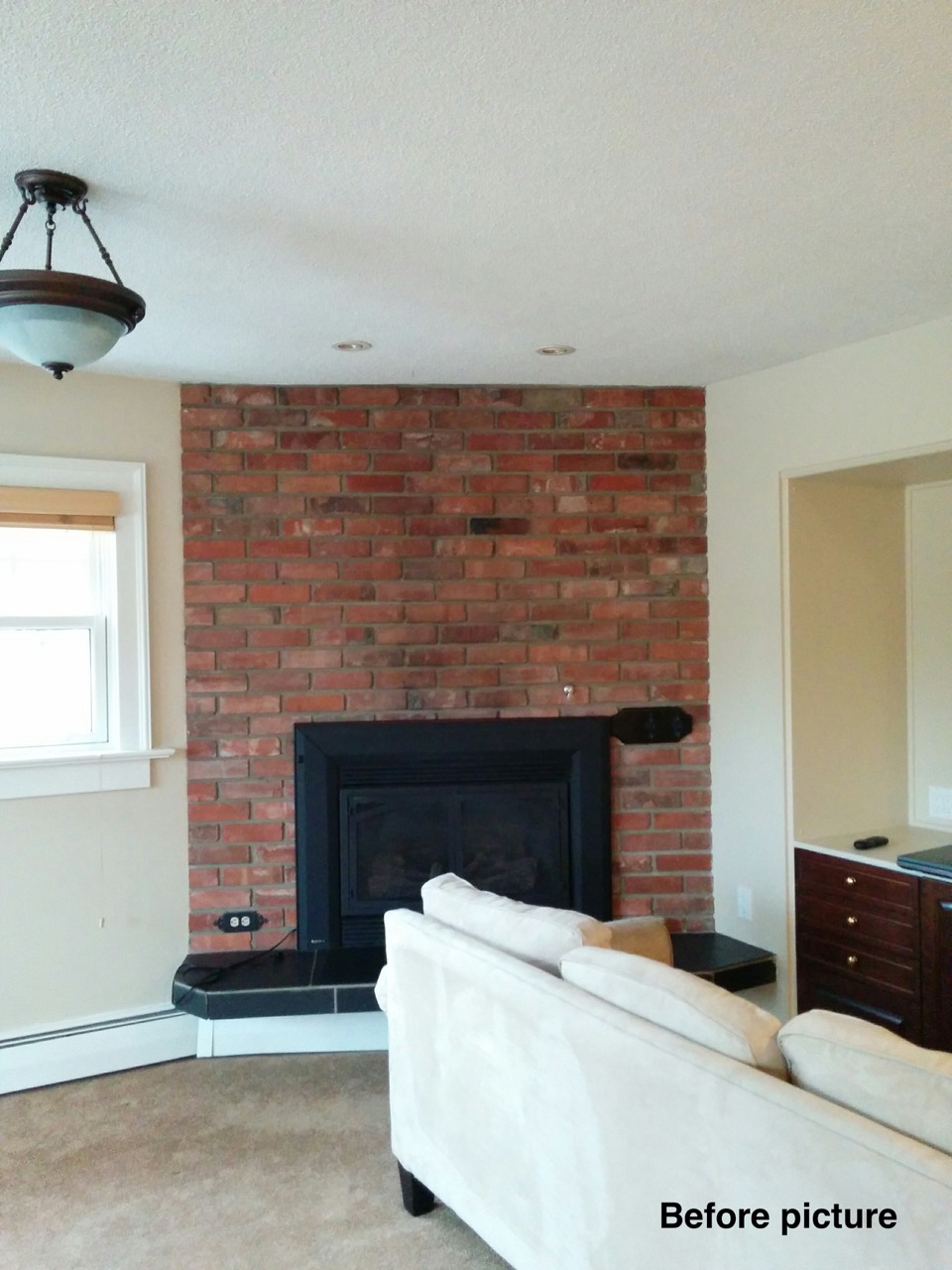 Before - Family room