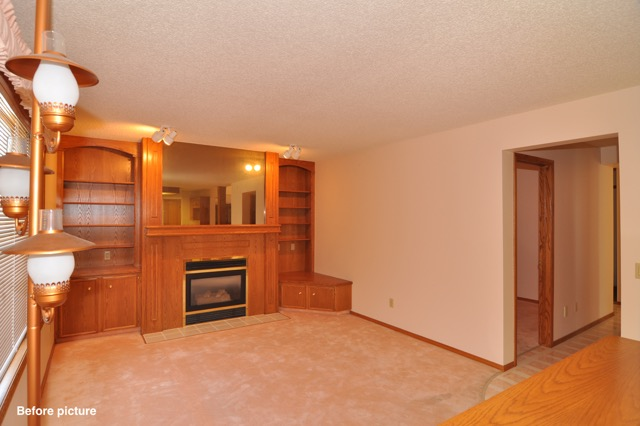 Country Hills Before - Family room