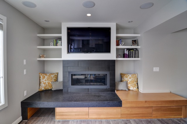 Country Hills After - Fireplace feature